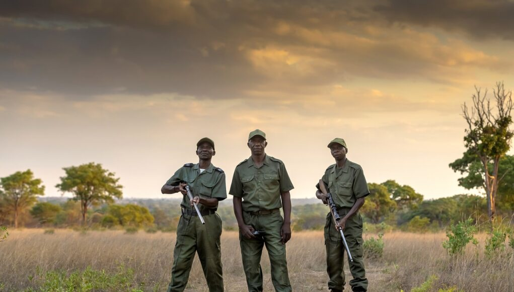 rhino guards with guns
